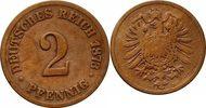 Kaiserreich Pfennig 2 Pfennig 1873 B -- Kaiserreich -- besseres Jahr