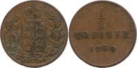 ½ Kreuzer 1850, Württemberg, Wilhelm I., 1816-1864, etwas Belag, ss  4,00 EUR  zzgl. 3,50 EUR Versand