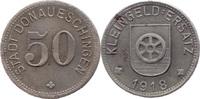 50 Pf 1918, Donaueschingen (Baden) - Stadt,  Rostspuren, ss+  8,00 EUR  zzgl. 3,50 EUR Versand