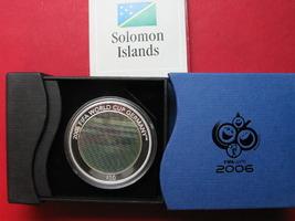 2005 Salomonen Filmmünze SALOMONEN 10 $ 2005 FUSSBALL WM Torszene Silber m. Box & Zert. # 91488 PP