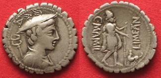 -82 Roman Republic CAIUS MAMILIUS LEMITAN...
