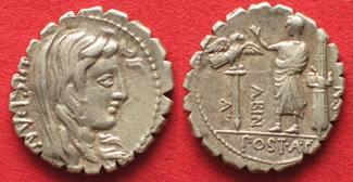 -81 Roman Republic AULUS POSTUMIUS ALBINU...