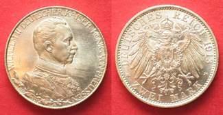 1913 Preussen PREUSSEN 2 Mark 1913 A WILH...