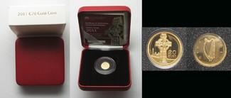 2011 Irland IRLAND 20 Euro 2011 KELTENKREUZ Gold in BOX mit ZERTIFIKAT SELTEN! # 94959 PP