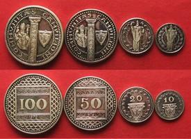 1972 Campione d Italia CAMPIONE D ITALIA Satz 10,20,100 Fr. 1970 50 Franken 1972 Silber RRR!!! # 94975 PP