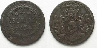 1764 Frankreich - Korsika CORSICA 4 Soldi 1764 PASQUALE PAOLI Mistura RARA!!! # 95074 ss