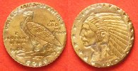 Gold - Minis  1910 INDIAN HEAD 5 DOLLARS Gold # 36693
