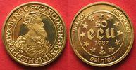 1987 Belgien 1/2 Unze Fein Gold BELGIEN 5...
