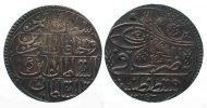 Trkei  TRKEI Yirmilik AH1143-XII(1741) MAHMUD I. Silber Patina ERHALTUNG! # 64366