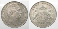 Bayern  Germany BAVARIA 2 Gulden 1855 MAXIMILIAN II silver XF+! # 77730