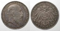 Baden  Germany BADEN 5 Mark 1903 G FRIEDRICH I silver VF+ # 77735