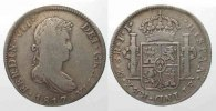 Mexiko  MEXICO 8 Reales (Peso) 1817 Mo-Mexico City FERNANDO VII silver aVF/VF # 77744