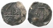 Spanien  SPAIN 8 Reales ND(1621-67) SD Segovia PHILIP IV silver COB MACUQUINA VF # 77760