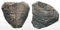 Spanien  SPAIN 8 Reales ND(1611-21) SD Segovia PHILIP III silver COB MACUQUINA VF # 77762
