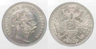 Haus Habsburg  AUSTRIA 20 Kreuzer 1868 FRANZ JOSEPH I silver UNC!!! # 77774