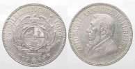 Sdafrika  ZUID AFRIKAANSCHE REPUBLIEK 2-1/2 Shillings 1896 KRGER Silber ERHALTUNG!# 77780