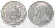 Sdafrika  SOUTH AFRICA 1 Shilling 1897 KRUGER silver aUNC!!! # 77781