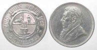 Sdafrika  ZUID AFRIKAANSCHE REPUBLIEK 2 Shillings 1897 KRGER Silber ERHALTUNG! # 77782