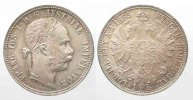 Haus Habsburg  STERREICH K.u.K. 1 Gulden 1885 FRANZ JOSEPH I. Silber ERHALTUNG!!! # 77783