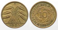 Deutschland - Weimarer Republik  WEIMARER REPUBLIK 10 Reichspfennig 1925 G # 79576