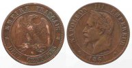 Frankreich  NAPOLEON III 2 Centimes 1861 BB-STRASBOURG bronze qTTB # 79581