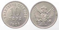 Montenegro  MONTENEGRO Frstentum 10 Para 1906 NIKOLA I. Nickel # 79585