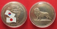 Kongo - Kinshasa  KONGO 5 Francs 2002 FUSSBALL WM IN JAPAN & KOREA Farbmünze # 87211