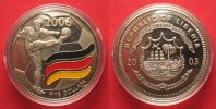 Liberia  LIBERIA 5 Dollars 2003 FOOTBALL WORLD CUP in GERMANY Cu-Ni colored # 87279