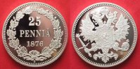 Finnland  FINNLAND 25 Pennia 1876 KOPIE 40mm Proof # 87517