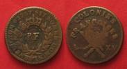 1793 Guadeloupe GUADELOUPE 3 Sols 9 Deniers (1/4 Escalin) 1793 copper ... 89,99 EUR  +  5,00 EUR shipping