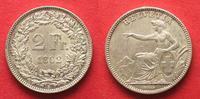 1862 Schweiz EIDGENOSSENSCHAFT 2 Franken ...