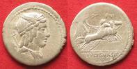 Roman Republic  L. IULIUS BURSIO 85 v.Chr. AR Denar VICTORIA QUADRIGA # 93563