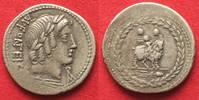Roman Republic  RÖMISCHE REPUBLIK AR Denar MN. FONTEIUS 85 v.Chr. Genius auf Ziege # 93604