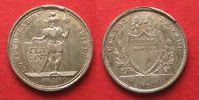 1823 Schweiz - Waadt Swiss VAUD 1 Franc 1845 S silver aUNC/UNC!!! # 93... 169,99 EUR  +  6,50 EUR shipping