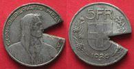 1926 Schweiz SWITZERLAND 5 Francs 1926 B - CONTEMPORARY COUNTERFEIT - ... 39,99 EUR  plus 5,00 EUR verzending