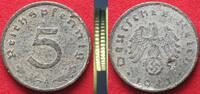 1941 Deutschland - Drittes Reich Germany THIRD REICH 5 Pfennig 1941 A ... 199,99 EUR  +  6,50 EUR shipping