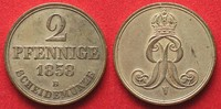 1858 Hannover, Königreich HANNOVER 2 Pfennig 1858 B GEORG V. - Silbera... 149,99 EUR  zzgl. 6,50 EUR Versand
