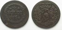 1764 Frankreich - Korsika CORSICA 4 Soldi...