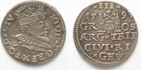 1593 Riga RIGA 3 Gröscher 1593 GE SIGISMUND III. v. POLEN Silber ERHAL... 39,99 EUR  zzgl. 4,50 EUR Versand