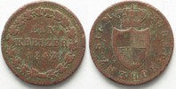 1842 Hohenzollern-Sigmaringen HOHENZOLLERN-SIGMARINGEN 1 Kreuzer 1842 ... 12,99 EUR  zzgl. 4,50 EUR Versand