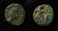 Barbaric coinage Irregular imitation of late roman coin, 10mm, Crude ... 80,00 EUR  zzgl. 7,00 EUR Versand