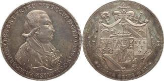 Konventionstaler 1790 Freising, Bistum Joseph Konrad Freiherr von Schroffenberg 1790-1803. Leichte Patina, ganz winz. Kratzer, fast Stempelglanz