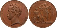 Anhalt-Dessau Bronze Medaille Leopold Friedrich 1817-1871, ab 1863 gemeinschaftlich.