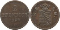 Sachsen-Albertinische Linie 2 Pfennig 1859 F Sehr sch&ouml;n+ Johann 1854-1873. 10,00 EUR inkl. gesetzl. MwSt., zzgl. 3,00 EUR Versand