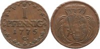 Sachsen-Albertinische Linie 1 Pfennig 1775 C Sehr sch&ouml;n-vorz&uuml;glich Fried... 25,00 EUR inkl. gesetzl. MwSt., zzgl. 3,00 EUR Versand