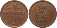 Mecklenburg-Schwerin Cu 1 Pfennig Friedrich Franz I. 1785-1837.