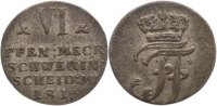 Mecklenburg-Schwerin VI Pfennig Friedrich Franz I. 1785-1837.