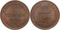 Mecklenburg-Schwerin 1 Pfennig Friedrich Franz II. 1842-1883.
