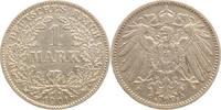 1 Mark 1901  G Kleinmünzen  Winz. Randfehler, sehr schön  5,00 EUR