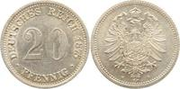 20 Pfennig 1875  H Kleinmünzen  Ganz winz. Kratzer, vorzüglich  110,00 EUR kostenloser Versand